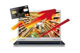 augmentation des achats alimentaires en ligne poster