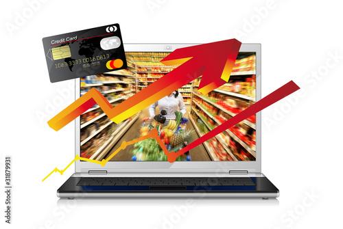 augmentation des achats alimentaires en ligne
