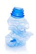 Bouteille en plastique compactée
