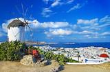 Fototapety sunny beautiful Mykonos - amazing greek islands series