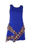 Blue short female dress
