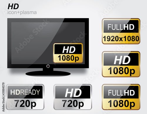 HD icons set + plasma tv