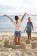 Enfants à la plage.