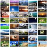 Fototapety viaggiare collage