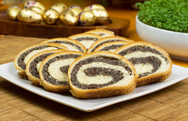 Traditional polish poppy-seed cake