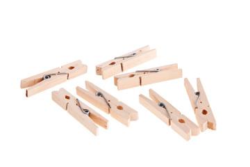 Wooden clothespins.