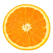 slice of orange isolated on white background with clipping path