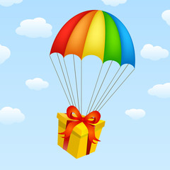 gifts on parachutes