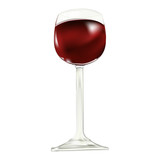 Wine glass with red wine
