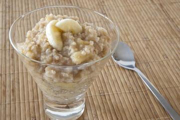 Banana Millet Breakfast Pudding