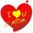 Cuore Festa Mamma Amore-Love Mom Paper Heart-Vector