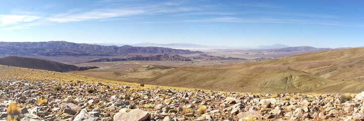 Panorama sur la cordillere des andes argentine