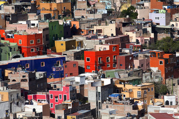 Colorful town of Guanajuato Mexico