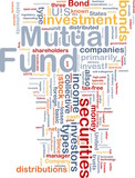 Mutual fund is bone background concept poster