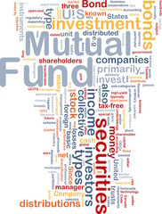 Mutual fund is bone background concept