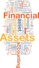 Financial assets is bone background concept
