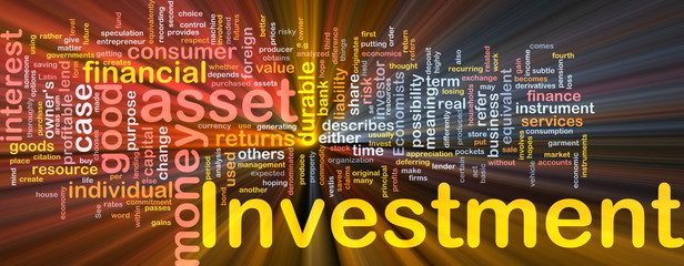 Investment background concept