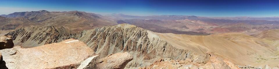 Panorama sur la cordillere des andes argentine (6000m)