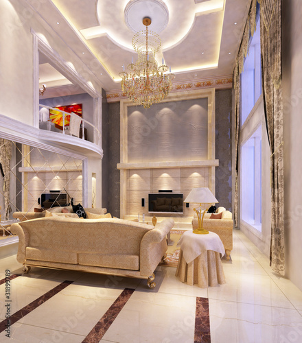 Room Design on Modern Design Interior Of Living Room  3d Render From Windy Li
