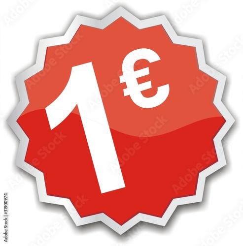 tiquette 1 euro photo libre de droits sur la banque d 39 images image 31900974. Black Bedroom Furniture Sets. Home Design Ideas