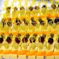 Käse - Häppchen am Buffet