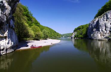 Der historische Donaudurchbruch bei Kehlheim