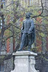 Bronze statue in Budapest, Hungary