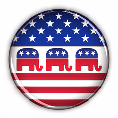 Republican Party button over white background