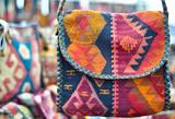 handmade genuine ethnic bag  made of cloth poster