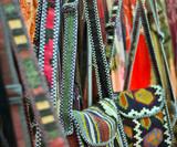 handmade genuine ethnic bags  made of cloth poster