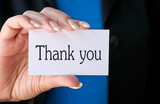Thank you - Business and Success Concept