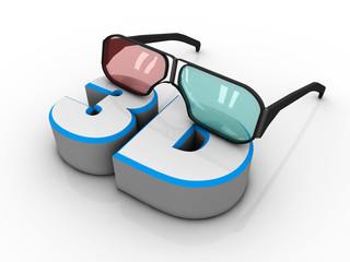 Occhialini 3d e testo