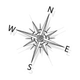 Fototapety Vector compass