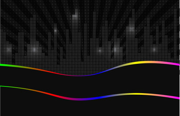 Vector backgrounds ?night city. abstract music banner