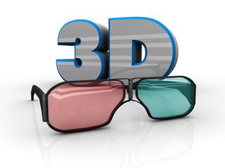 Occhialini 3d con testo