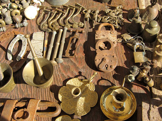 Market brass objects