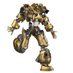 robot soldier running