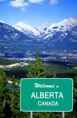 Welcome to Alberta sign