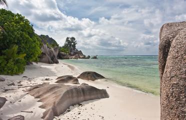 plage de Source d'Argent à la Digue aux Seychelles