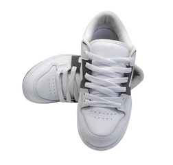Pair of white sneakers