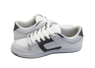 Side view of sneakers