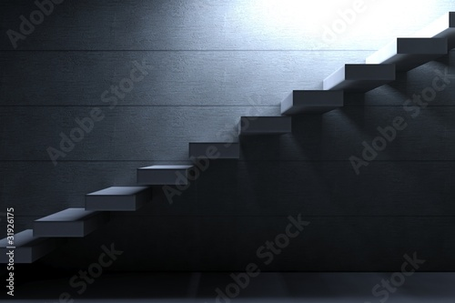 Cement Stairs on concrete background