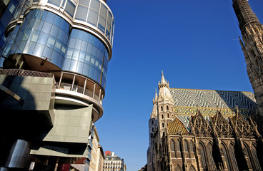 old and new architecture (Vienna)