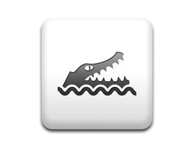 Boton cuadrado blanco peligro cocodrilo