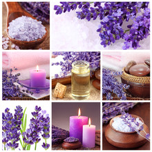 Lavender collage spa