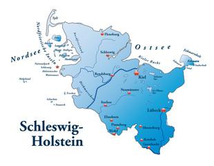 Niedersachsen Übersicht blau in SVG