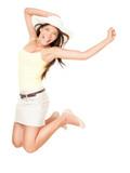 Summer woman jumping - 31935149