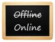 Online / Offline - eBusiness Concept