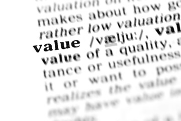 value (the dictionary project)