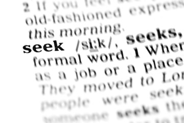 seek (the dictionary project)